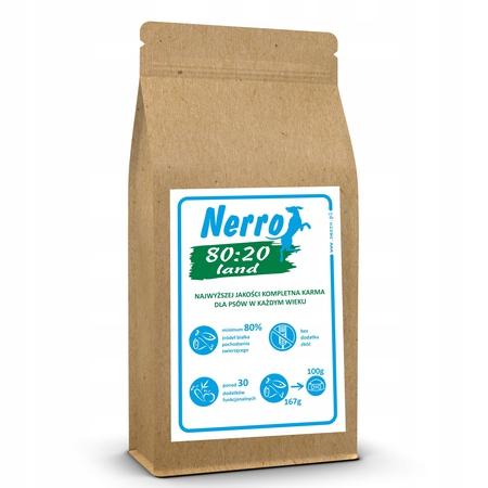 karma sucha dla psa NERRO 80:20 LAND 2kg (1)